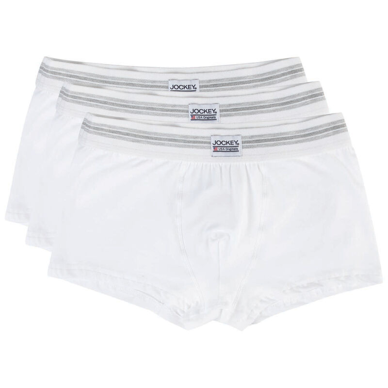 Jockey Men's Three-Pack Short Trunks -  white