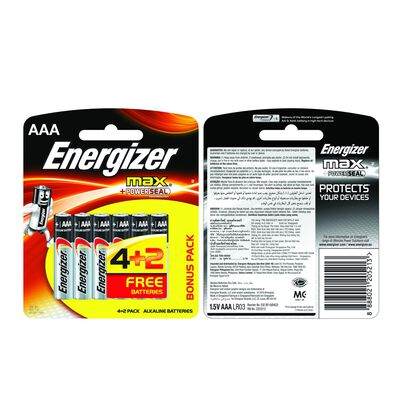 Energizer 4+2 AAA MAX Battery