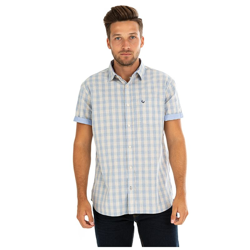 Old Khaki Men's Tedd Regular Fit Shirt -  oatmeal-blue
