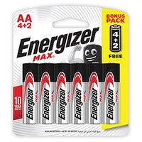 Energizer 4+2 AA MAX Batteries -  nocolour