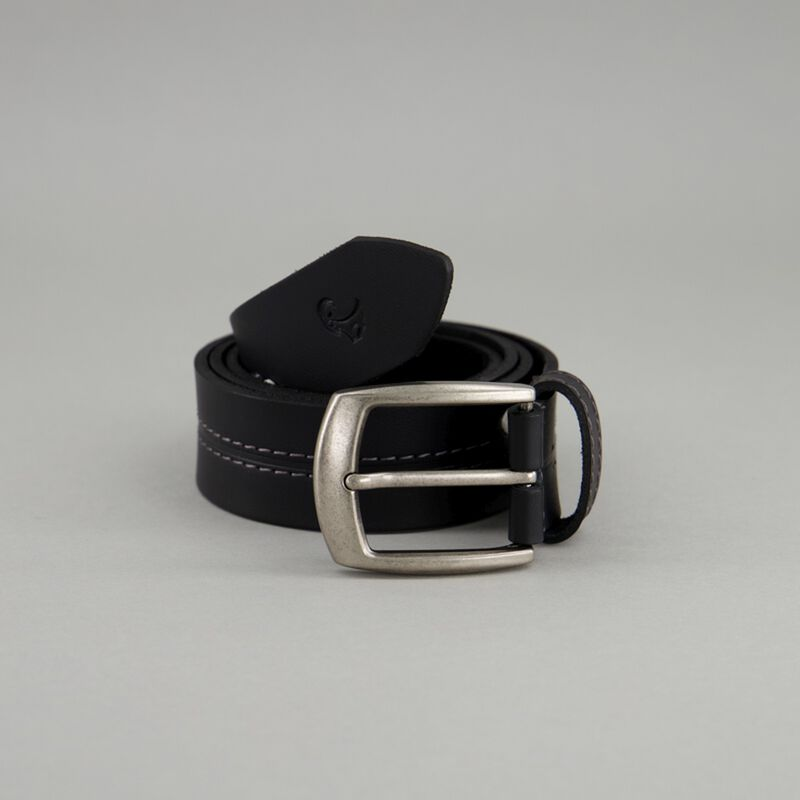 Old Khaki Men's Beckham Contrast Centre-Stitch Leather Belt -  dc0100