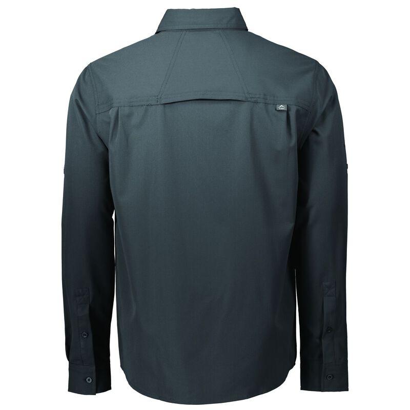 K-Way Men's Explorer Tredou Long Sleeve Shirt  -  charcoal