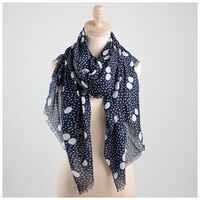 Rare Earth Dream Dot Scarf -  navy-milk