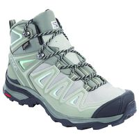Salomon Women's X Ultra 3 Mid GTX Boot -  grey-mint