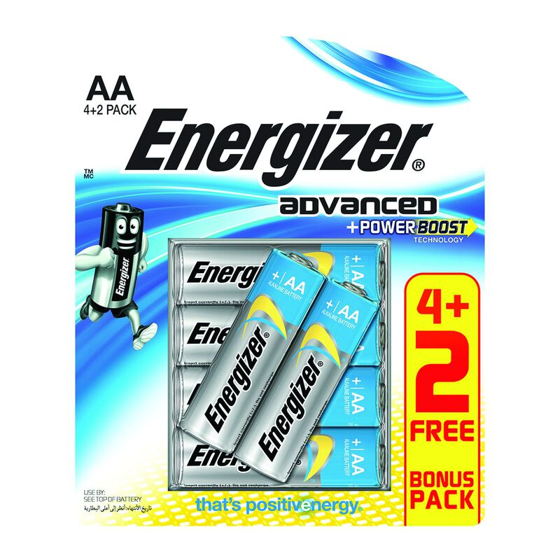 Energizer Advanced AA 4+2 Batteries -  nocolour