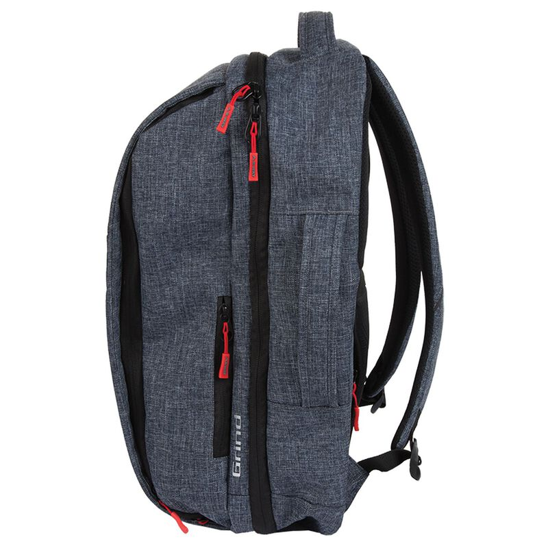 K-Way Grind Laptop Daypack -  charcoal-red