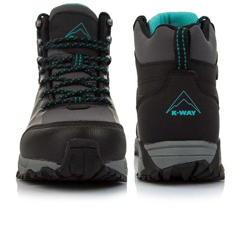 K-Way Women's Edge 2 Mid Boot -  charcoal-teal