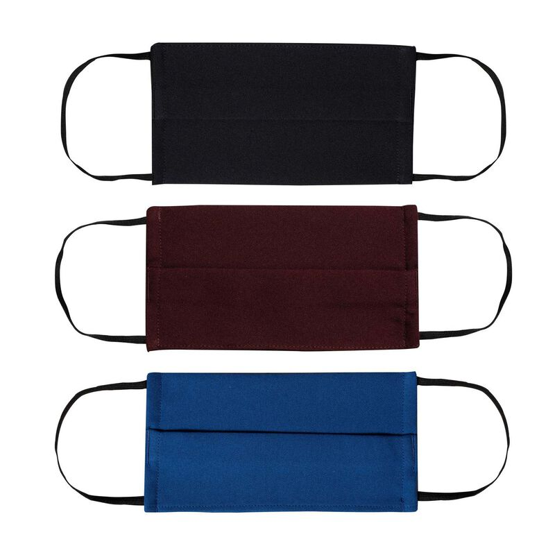 Cape Union Unisex Three-Piece Fabric 2-Layer Face Mask Pack with Filter -  burgundy-royal