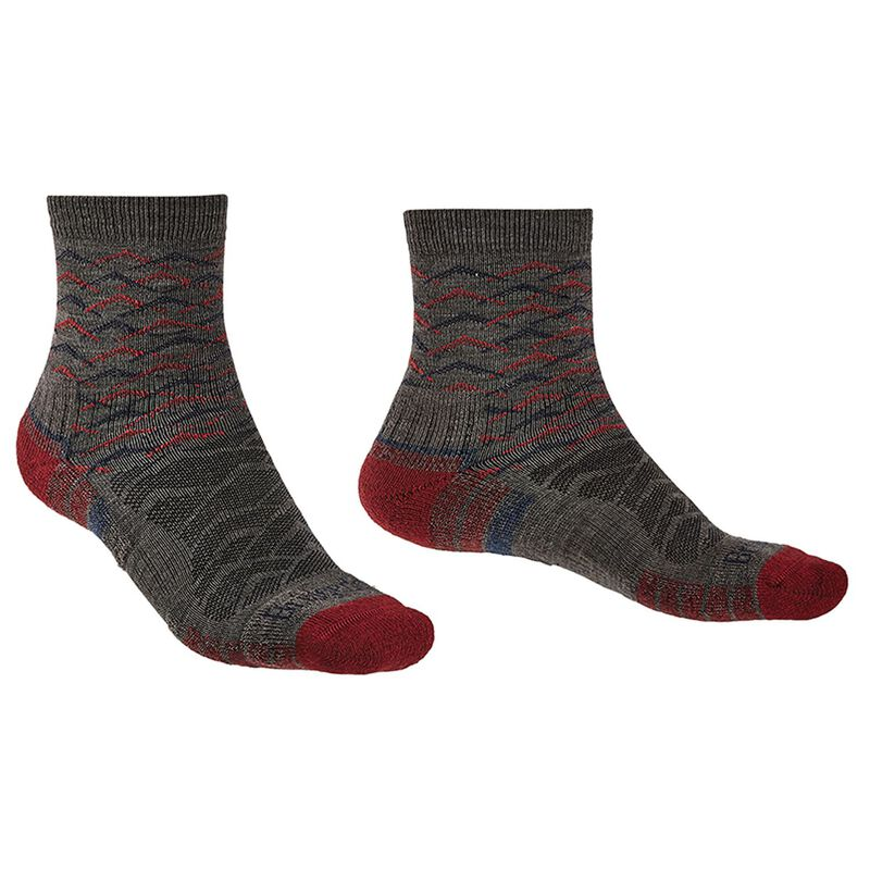 Bridgedale Men's Hiking Lightweight Endurance Sock -  brown-darkred