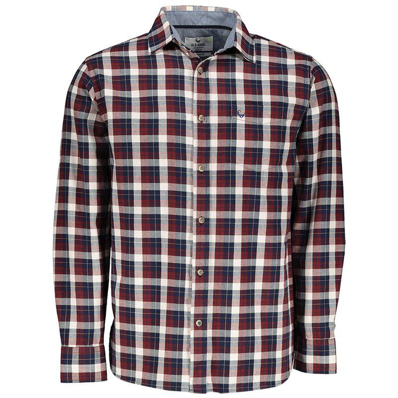 Winston Men's Regular Fit Shirt -  burgundy