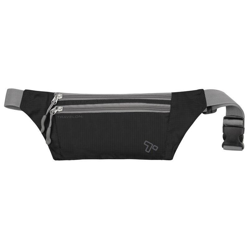 Travelon Double Zip Waist Pack -  black