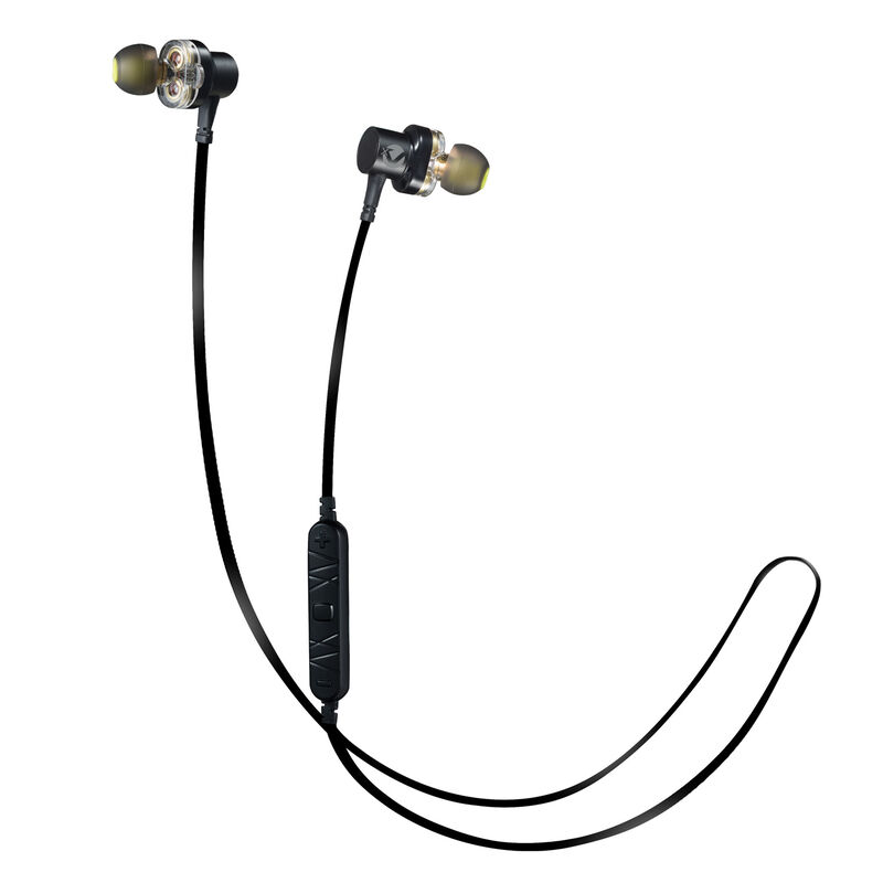Volkano Resonance Series Dual Driver Bluetooth Earphones -  black