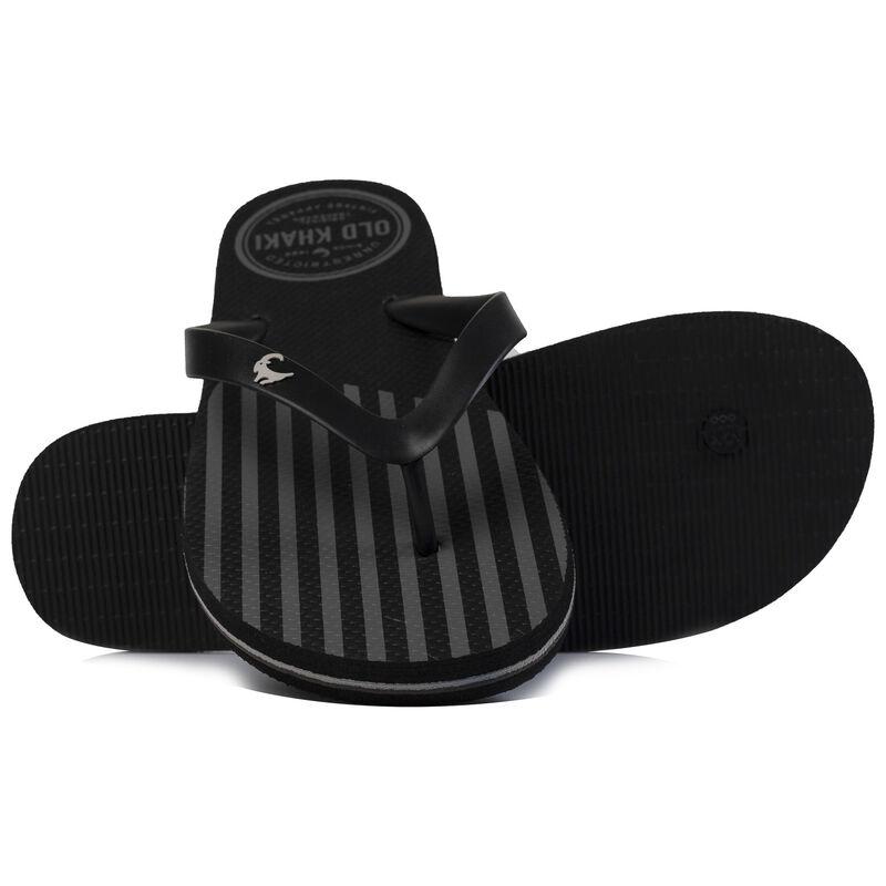 Old Khaki Men's Pacifico Thong Sandal -  black-silvergrey