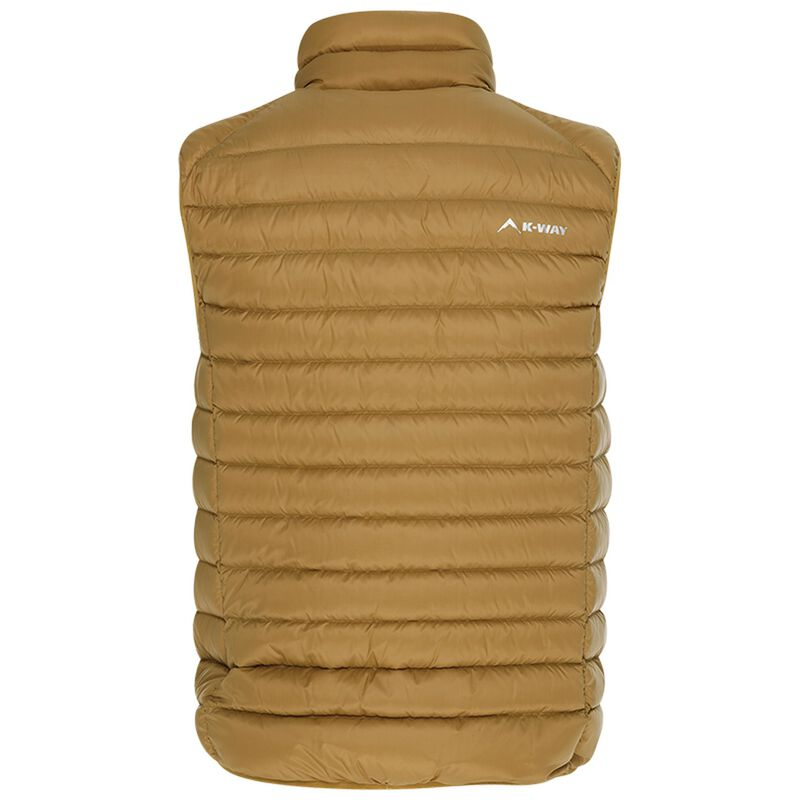K-Way Men's Meru Down Vest -  khaki
