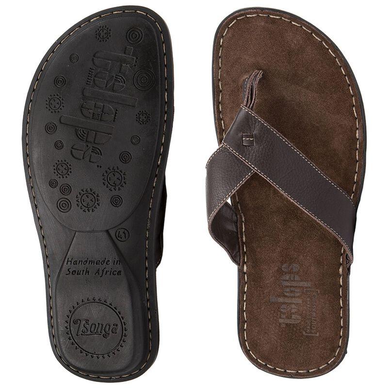 Tsonga Men's Tslops Thong Sandals -  brown