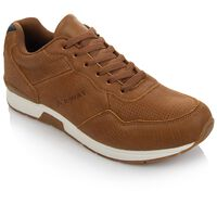 K-Way Men's Asphalt Shoe -  brown-navy