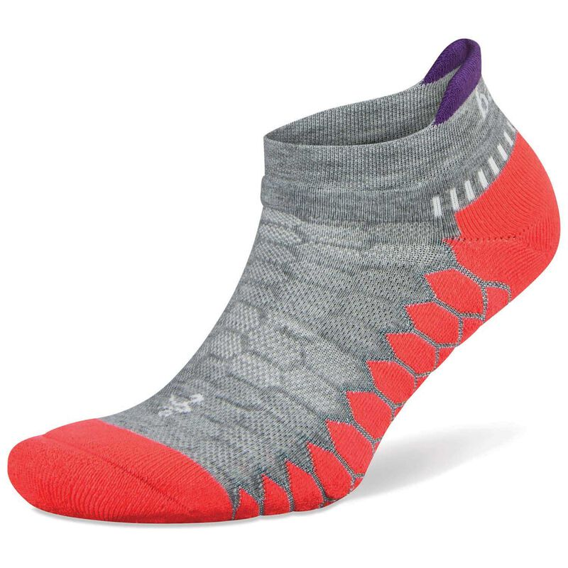 Balega Unisex Silver No Show Running Sock -  coral