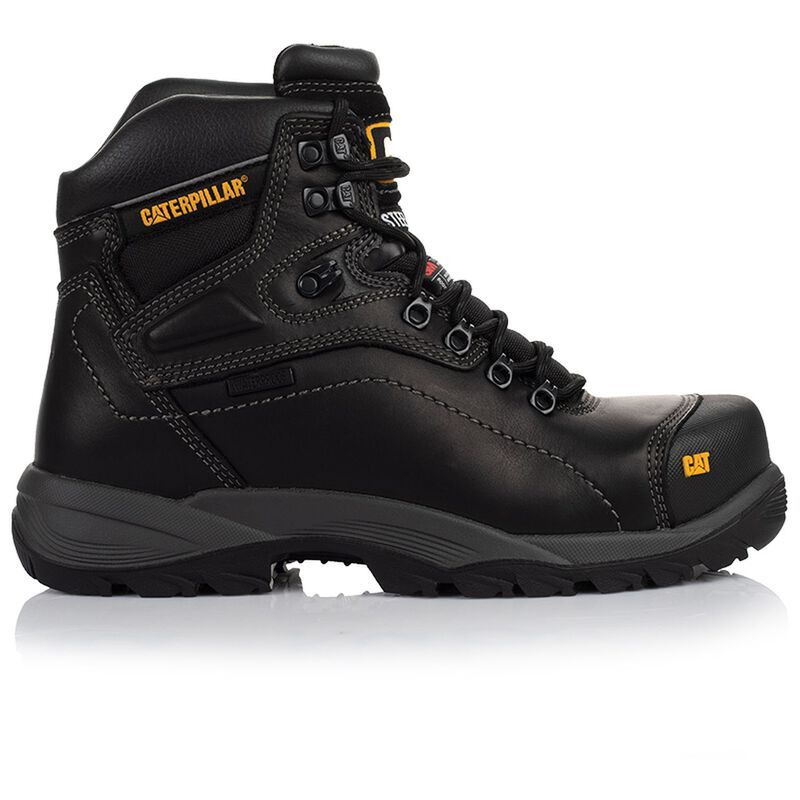 Caterpillar Men's Diagnostic Hi Steel Toe Boot  -  black-black