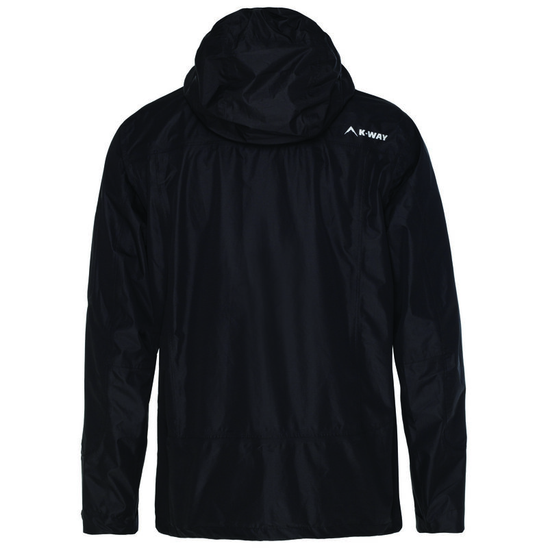 K-Way Men's Squall Tech Hiking Jacket  -  black-black