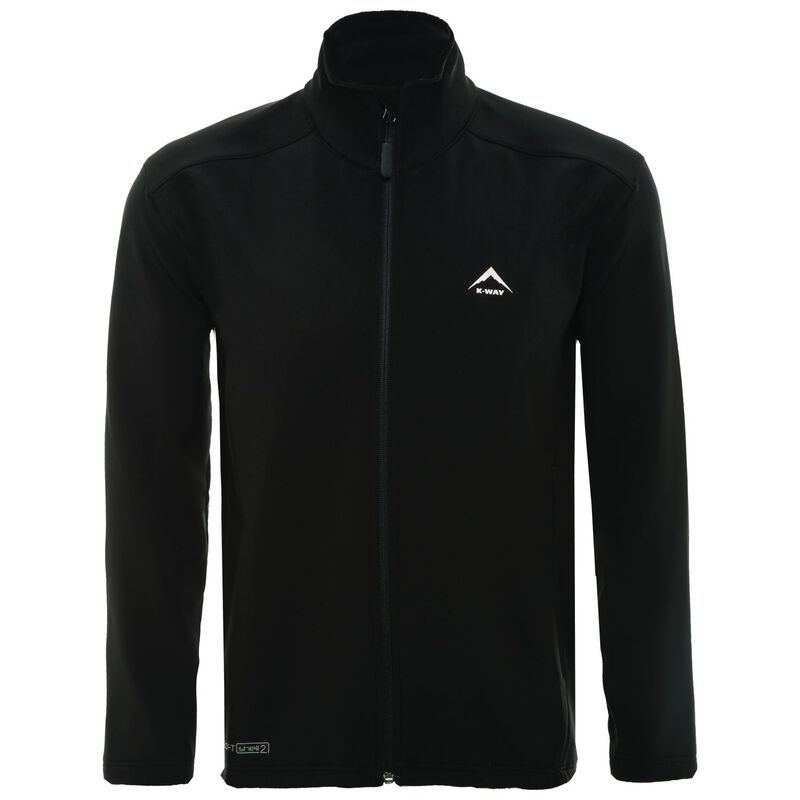 K-Way Men's Felixx Softshell Jacket -  black