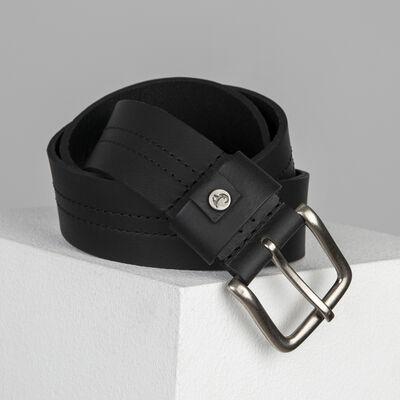 Cullen Ingot Trim Leather Belt