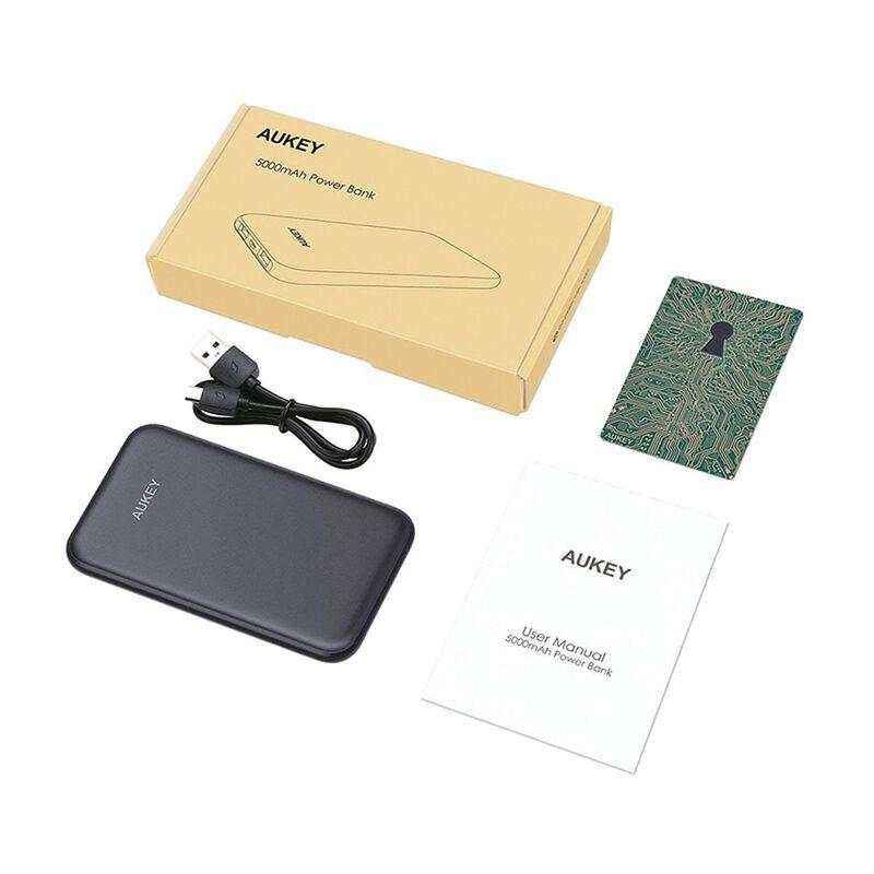 Aukey PB-N59 Slim 5 000 mAh Power Bank -  black