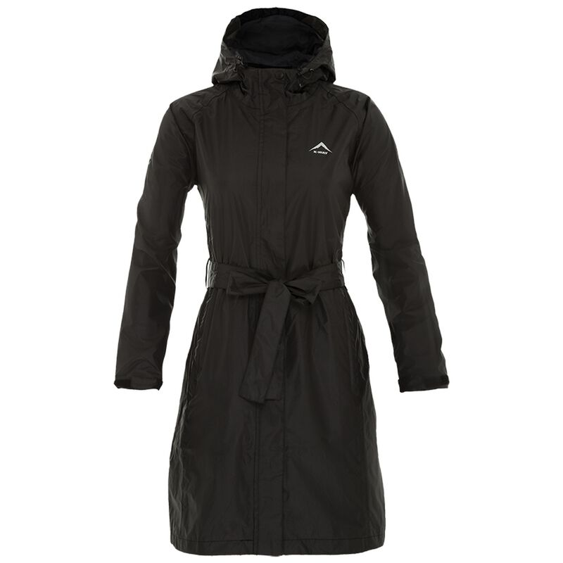K-Way Women's Austru Rain Coat -  black