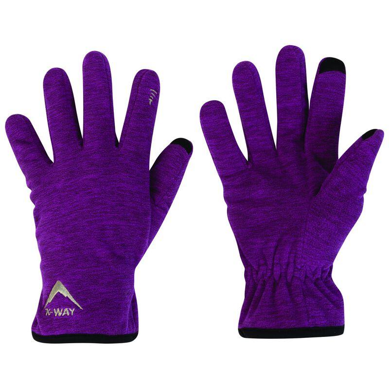 K-Way Touch Kinzer'18 Glove -  berry-darkmagenta
