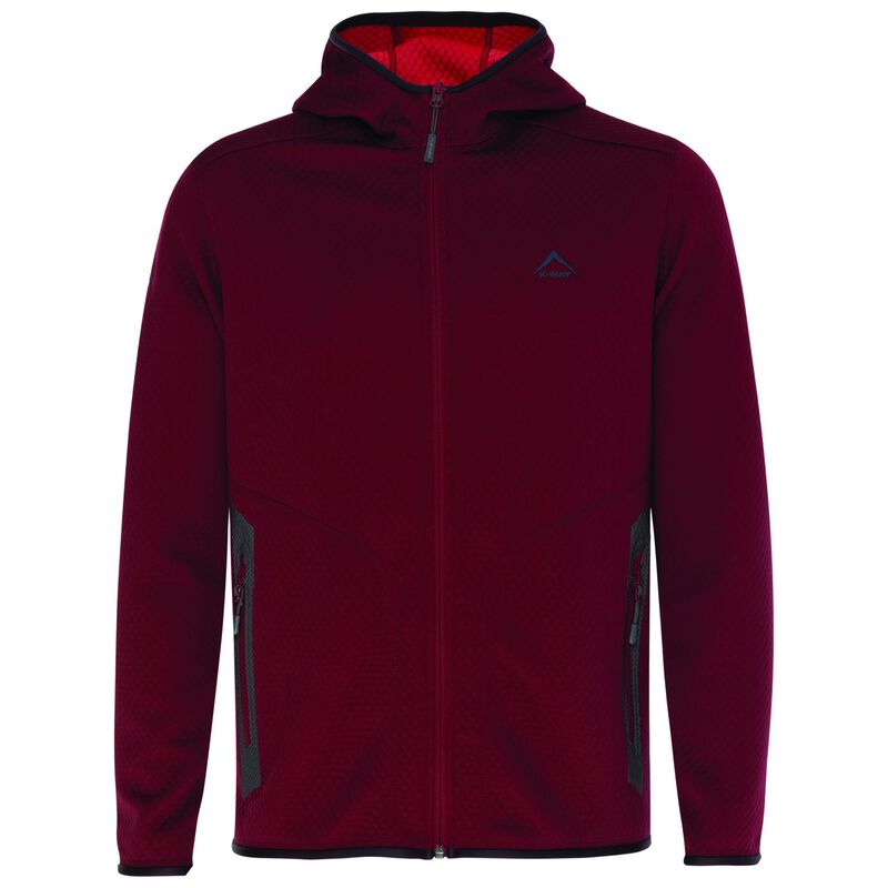 K-Way Men's Ecuador Fleece Hoody  -  oxblood-tomato