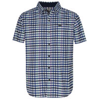 K-Way Men's Explorer Vaillant Short Sleeve Check Shirt  -  navy-white