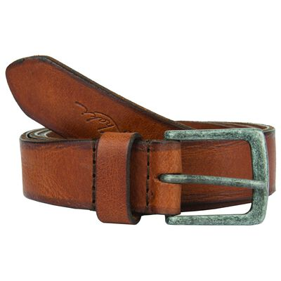 Old Khaki Ladies Kodiak Worn Leather Basic Belt