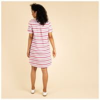 Rare Earth Callie Stripe Dress -  red