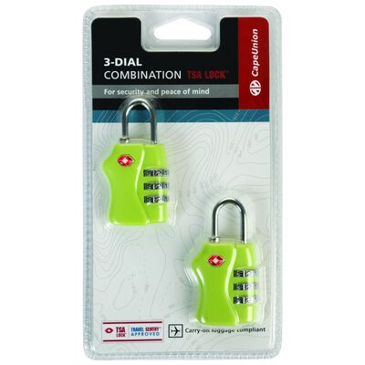 Cape Union TSA Combi Lock - Twin Pack