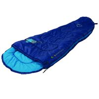 K-Way Printed Adventurer Sleeping Bag -  blue-blue