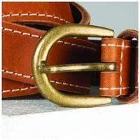 Old Khaki Henley Contrast Stitch Belt -  tan