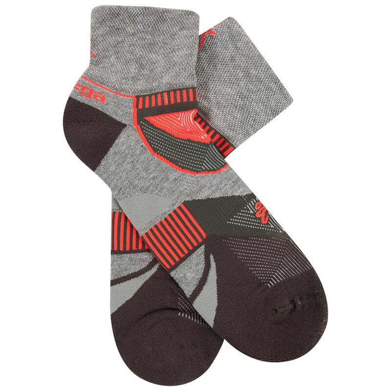 Balega Unisex Enduro Quarter Socks -  grey-orange