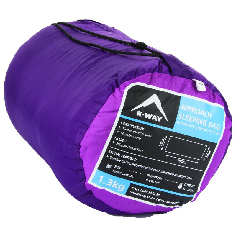 The K-Way Approach Sleeping Bag -  berry-grape