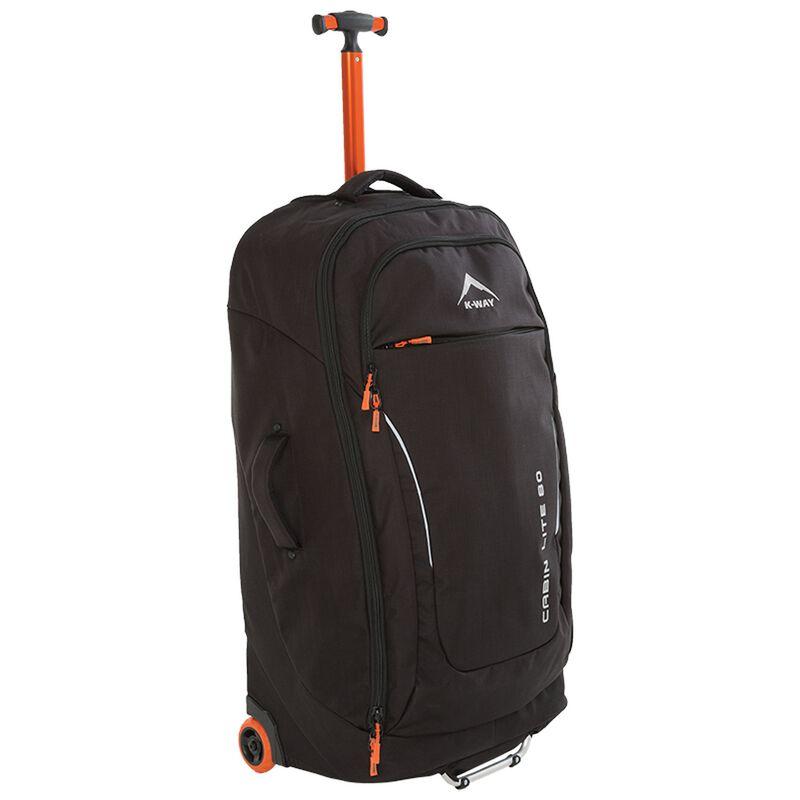 K-Way Cabin Lite 80L Roller -  black-orange