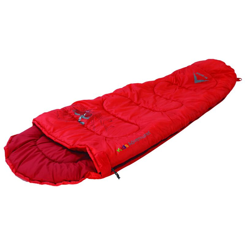 K-Way Printed Adventurer Sleeping Bag -  red-red
