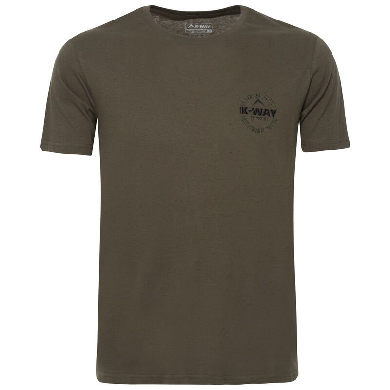 K-Way Men's Pocket W19.3 T-Shirt -  fatigue