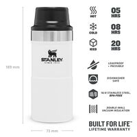 Stanley 0.35L Classic Trigger Action Mug -  white