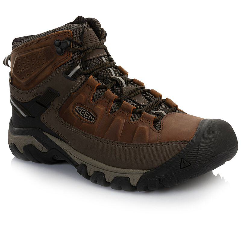 Keen Men's Targhee 3 Mid Waterproof Boot -  brown-driftwood