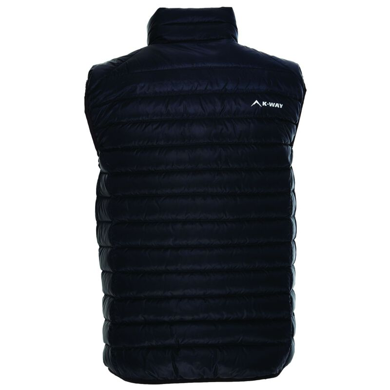 K-Way Men's Meru '18 Down Vest  -  black-darkcharcoal