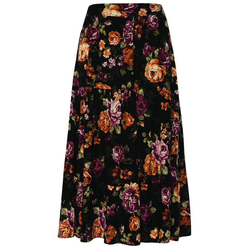 Tallie Women's Skirt -  black-assorted
