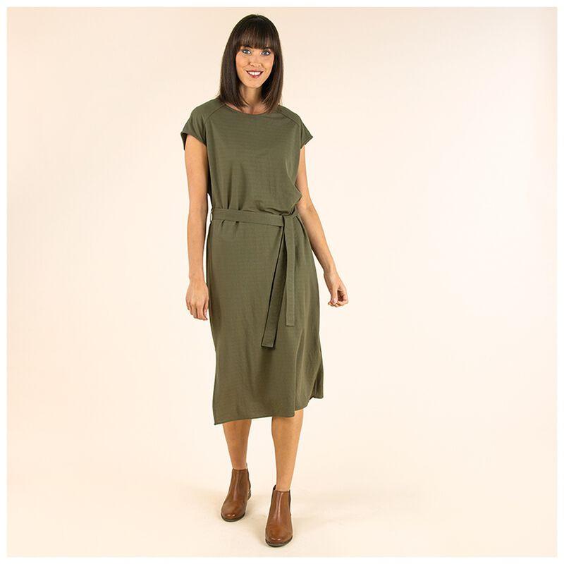 Mari-Ann Knit Dress -  olive