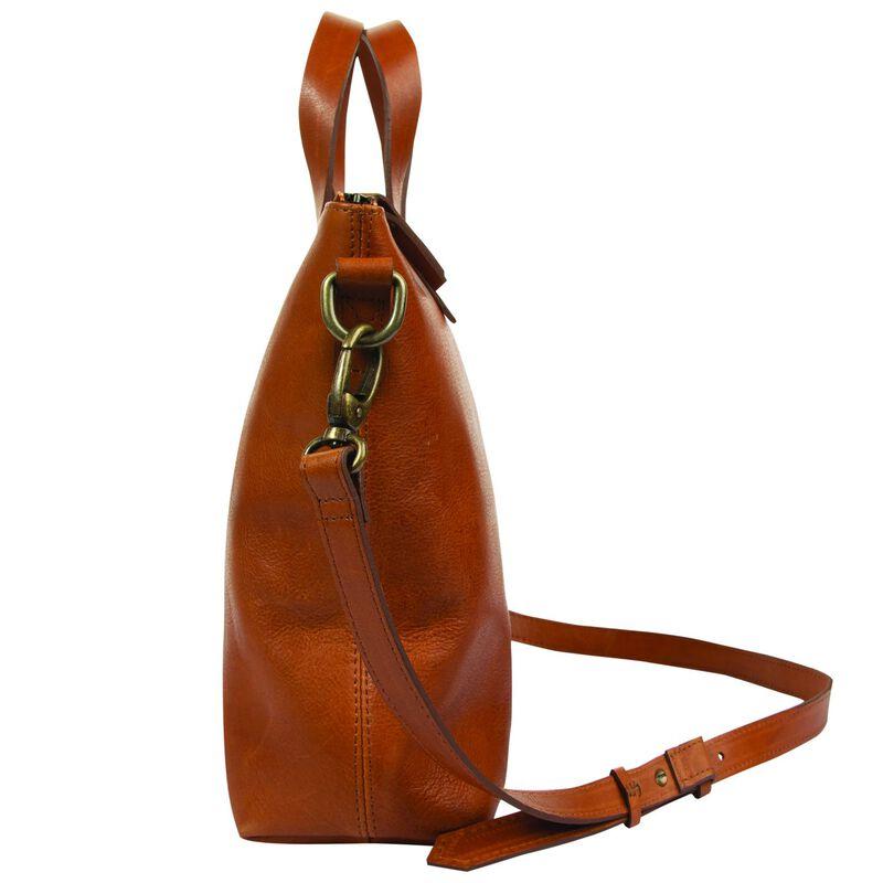 Amarone Small Shopper Leather Bag  -  tan-tan