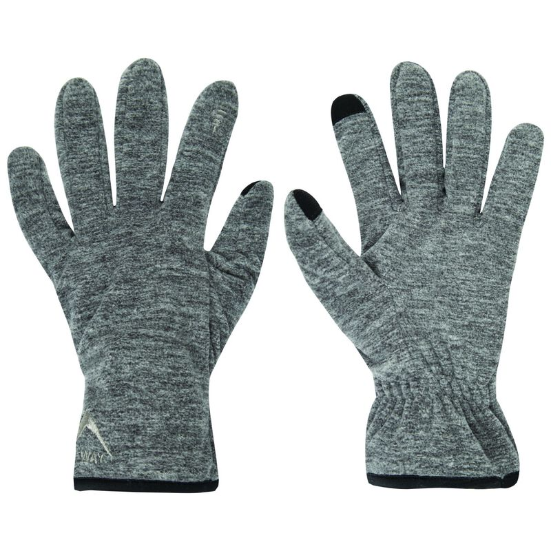 K-Way Unisex Touch Kinzer '18 Gloves -  grey-charcoal