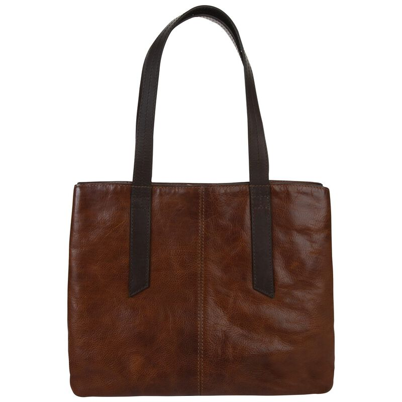 Old Khaki Women's Jessica Leather Shopper Bag -  tan-brown