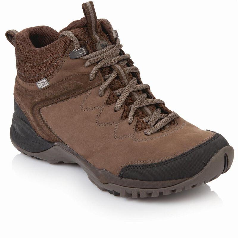 Merrell Women's Siren Traveller Q2 Mid WP Boot  -  brown-brown