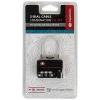CU Cable Lock TSA -  black
